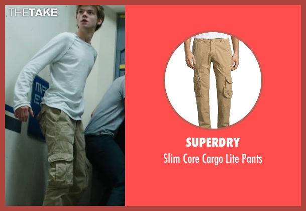 Superdry beige pants from Maze Runner: The Scorch Trials seen with Thomas Brodie-Sangster (Newt)