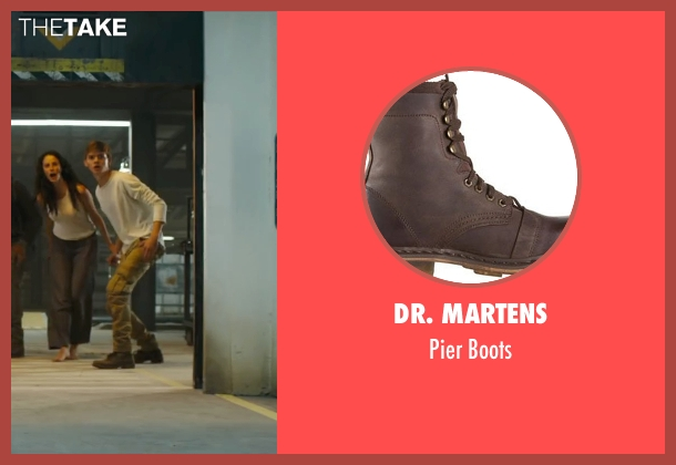 Dr. Martens brown boots from Maze Runner: The Scorch Trials seen with Thomas Brodie-Sangster (Newt)