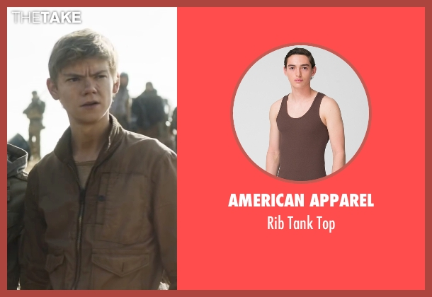 American Apparel brown top from Maze Runner: The Scorch Trials seen with Thomas Brodie-Sangster (Newt)