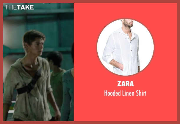 Zara white shirt from Maze Runner: The Scorch Trials seen with Thomas Brodie-Sangster (Newt)