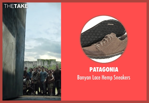 Patagonia brown sneakers from The Maze Runner seen with Thomas Brodie-Sangster (Newt)