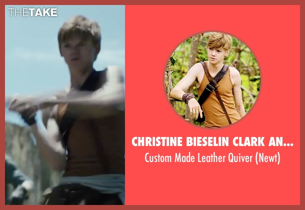 Christine Bieselin Clark and Simonetta Mariano (Costume Designers) quiver from The Maze Runner seen with Thomas Brodie-Sangster (Newt)