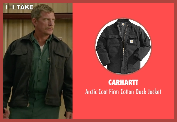 Carhartt black jacket from Max seen with Thomas Haden Church (Ray)