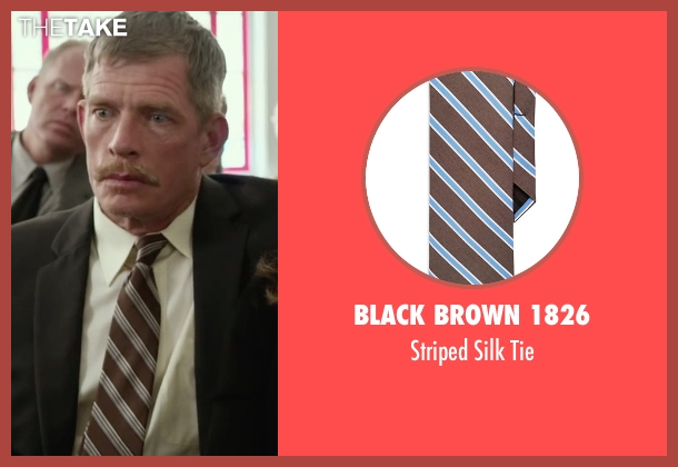 Black Brown 1826 brown tie from Max seen with Thomas Haden Church (Ray)