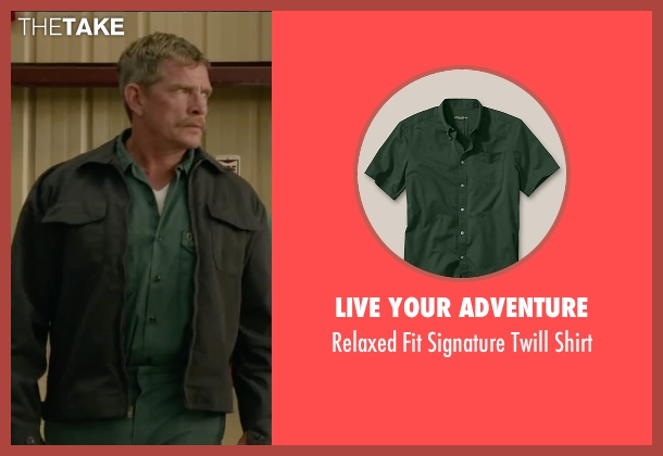 Live Your Adventure green shirt from Max seen with Thomas Haden Church (Ray)