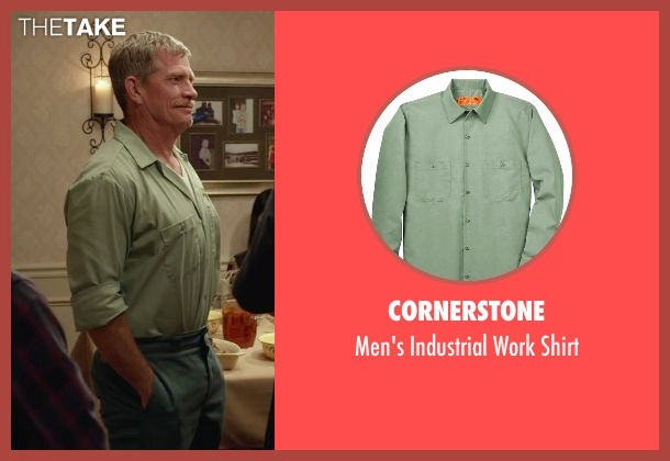 Cornerstone green shirt from Max seen with Thomas Haden Church (Ray)