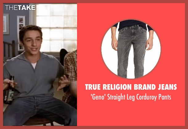 True Religion Brand Jeans gray pants from American Pie seen with Thomas Ian Nicholas (Kevin Myers)