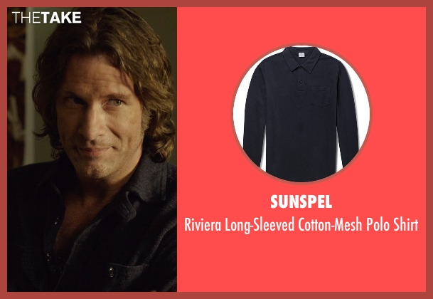 Sunspel blue shirt from Before I Wake seen with Thomas Jane (Mark)