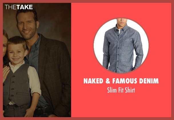 Naked & Famous Denim blue shirt from Before I Wake seen with Thomas Jane (Mark)