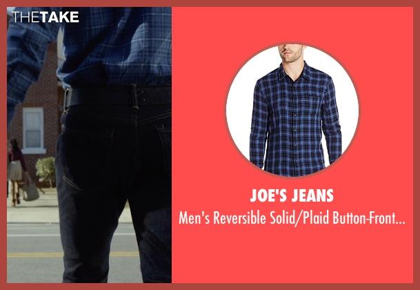 Joe's Jeans blue shirt from Before I Wake seen with Thomas Jane (Mark)