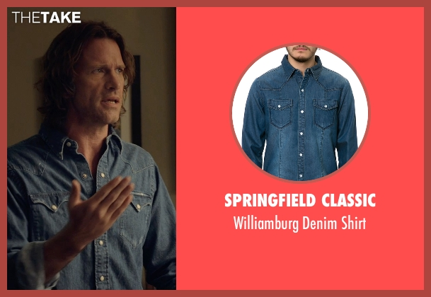 Springfield Classic blue shirt from Before I Wake seen with Thomas Jane (Mark)