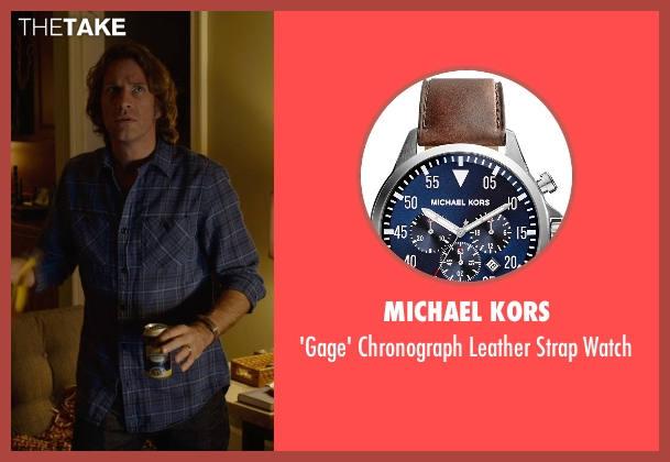 Michael Kors brown watch from Before I Wake seen with Thomas Jane (Mark)