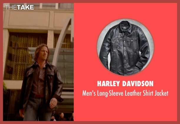 Harley Davidson black jacket from Vice seen with Thomas Jane (Roy)