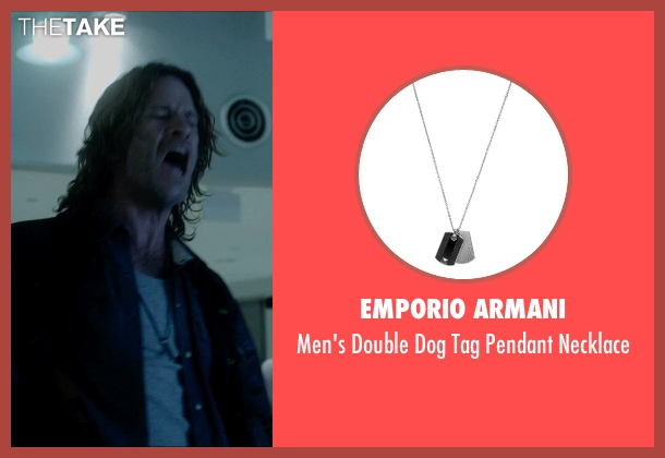 Emporio Armani silver necklace from Vice seen with Thomas Jane (Roy)