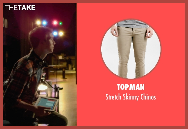 Topman beige chinos from Barely Lethal seen with Thomas Mann (Roger Marcus)