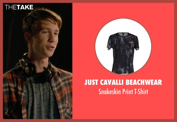 Just Cavalli Beachwear black t-shirt from Barely Lethal seen with Thomas Mann (Roger Marcus)