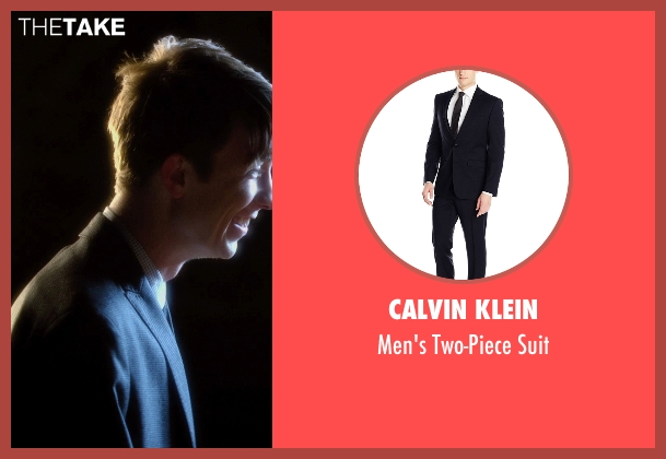 Calvin Klein blue suit from Barely Lethal seen with Thomas Mann (Roger Marcus)