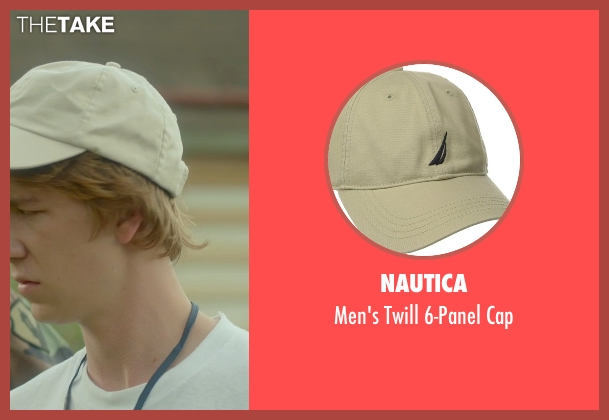 Nautica beige cap from Me and Earl and the Dying Girl seen with Thomas Mann (Greg Gaines)