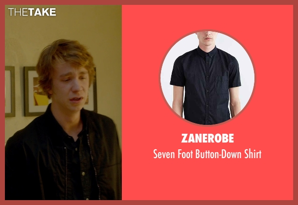 Zanerobe black button-down shirt from Me and Earl and the Dying Girl seen with Thomas Mann (Greg Gaines)