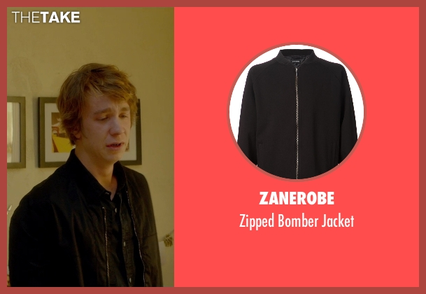 Zanerobe black jacket from Me and Earl and the Dying Girl seen with Thomas Mann (Greg Gaines)