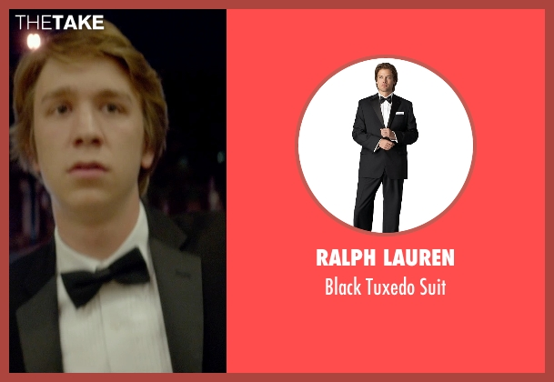 Ralph Lauren black suit from Me and Earl and the Dying Girl seen with Thomas Mann (Greg Gaines)