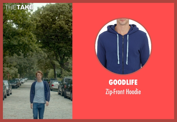 Goodlife blue hoodie from Me and Earl and the Dying Girl seen with Thomas Mann (Greg Gaines)