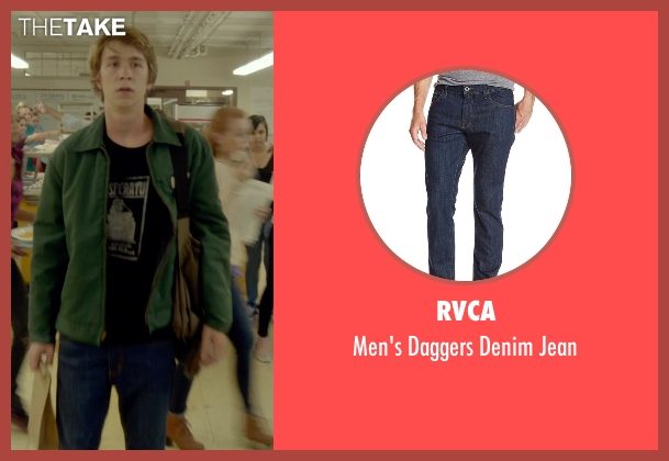 RVCA blue jean from Me and Earl and the Dying Girl seen with Thomas Mann (Greg Gaines)