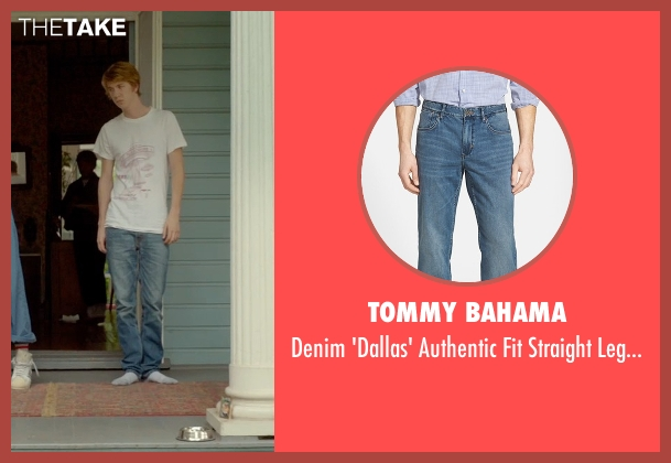 Tommy Bahama blue jeans from Me and Earl and the Dying Girl seen with Thomas Mann (Greg Gaines)