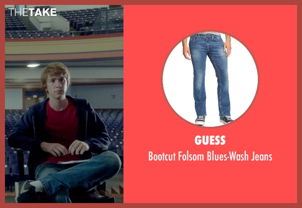 Guess blue jeans from Me and Earl and the Dying Girl seen with Thomas Mann (Greg Gaines)
