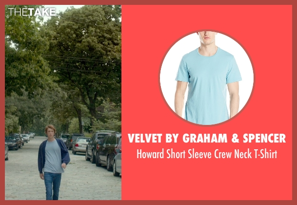 Velvet by Graham & Spencer blue t-shirt from Me and Earl and the Dying Girl seen with Thomas Mann (Greg Gaines)