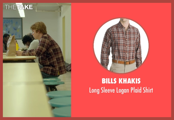 Bills Khakis brown shirt from Me and Earl and the Dying Girl seen with Thomas Mann (Greg Gaines)