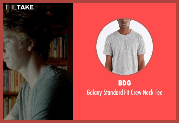 BDG gray tee from Me and Earl and the Dying Girl seen with Thomas Mann (Greg Gaines)