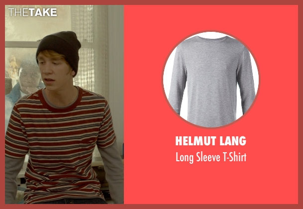 Helmut Lang gray t-shirt from Me and Earl and the Dying Girl seen with Thomas Mann (Greg Gaines)