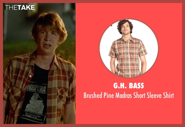 G.H. Bass red shirt from Me and Earl and the Dying Girl seen with Thomas Mann (Greg Gaines)