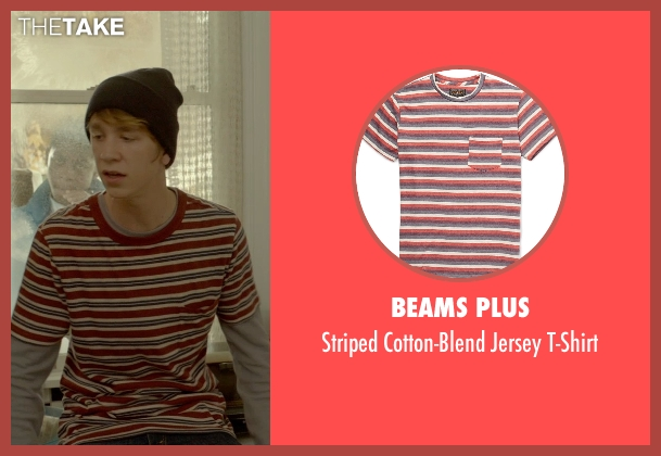Beams Plus red t-shirt from Me and Earl and the Dying Girl seen with Thomas Mann (Greg Gaines)