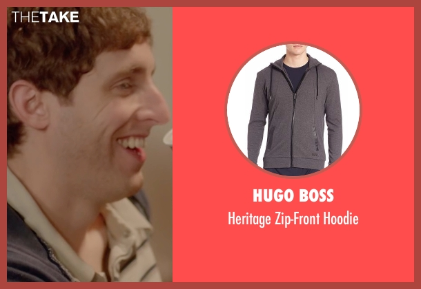 Hugo Boss gray hoodie from Joshy seen with Thomas Middleditch (Josh)