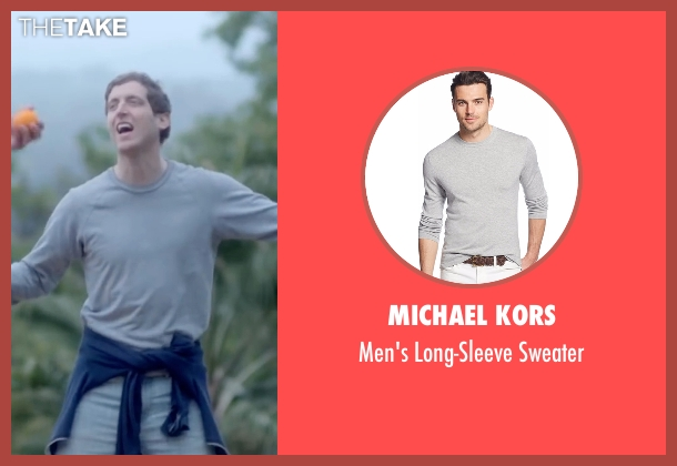 Michael Kors gray sweater from Joshy seen with Thomas Middleditch (Josh)