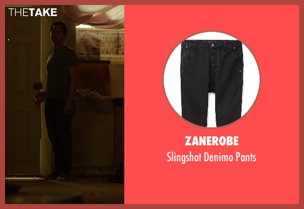 Zanerobe black pants from Wild seen with Thomas Sadoski (Paul)