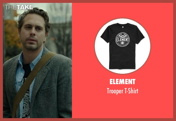 Element black t-shirt from Wild seen with Thomas Sadoski (Paul)