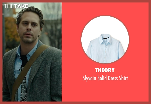 Theory blue shirt from Wild seen with Thomas Sadoski (Paul)