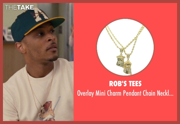 Rob's Tees gold necklace from Entourage seen with T.I. (Unknown Character)