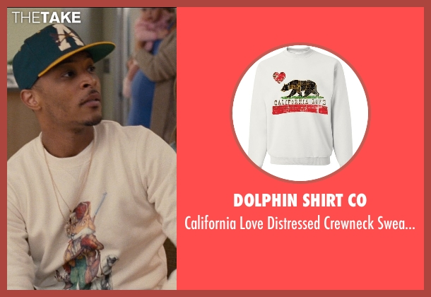 Dolphin Shirt Co white sweatshirt from Entourage seen with T.I. (Unknown Character)