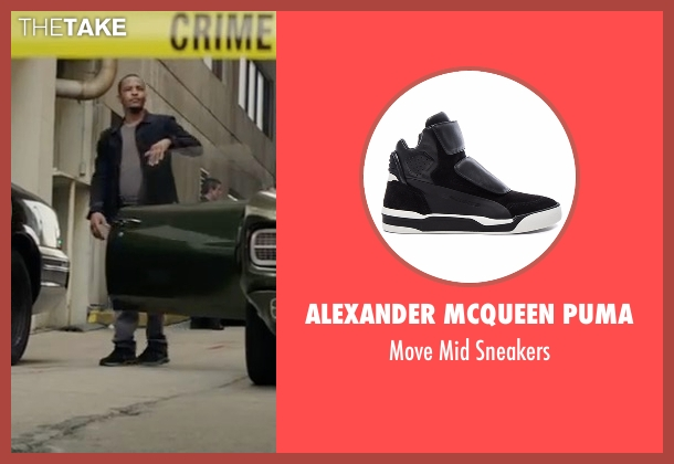 Alexander McQueen Puma black sneakers from Sleepless seen with T.I. (Derrick Griffin)