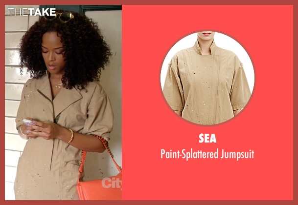 Sea beige jumpsuit from Empire seen with Tiana Brown (Serayah)