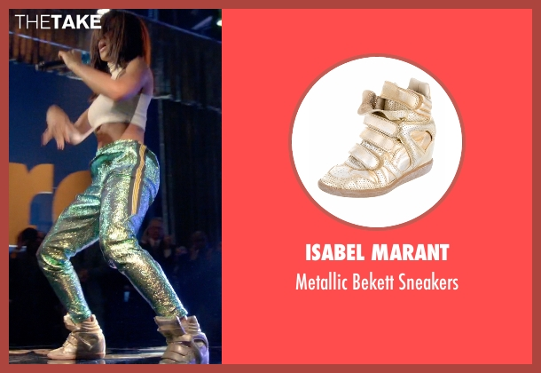 Isabel Marant gold sneakers from Empire seen with Tiana Brown (Serayah)