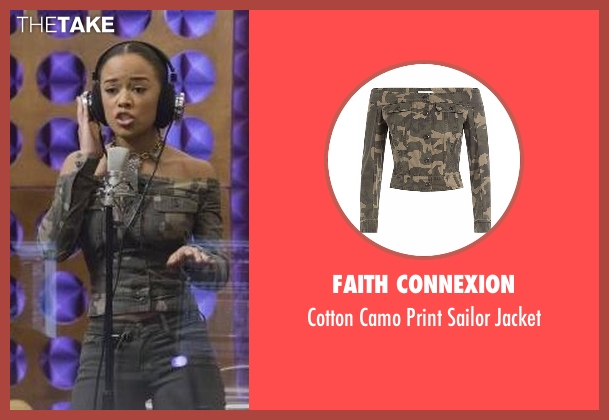Faith Connexion green jacket from Empire seen with Tiana Brown (Serayah)
