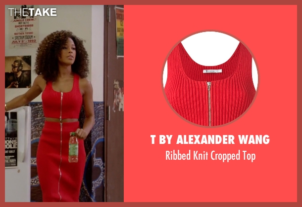 T By Alexander Wang red top from Empire seen with Tiana Brown (Serayah)