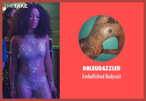 DBleuDazzled white bodysuit from Empire seen with Tiana Brown (Serayah)