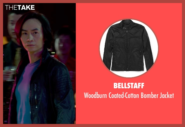 Bellstaff black jacket from Man of Tai Chi seen with Tiger Hu Chen (Tiger Chen Lin Hu)