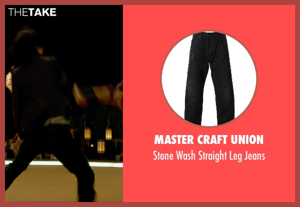 Master Craft Union black jeans from Man of Tai Chi seen with Tiger Hu Chen (Tiger Chen Lin Hu)